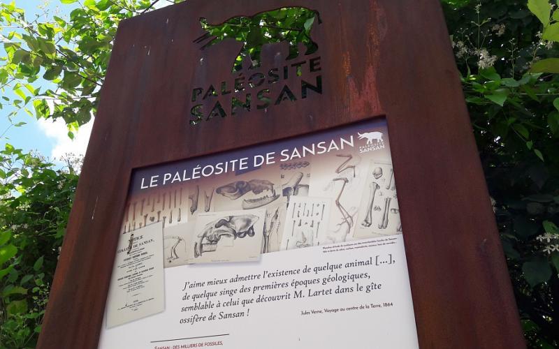 SENTIER PALEONTOLOGIQUE DE SANSAN