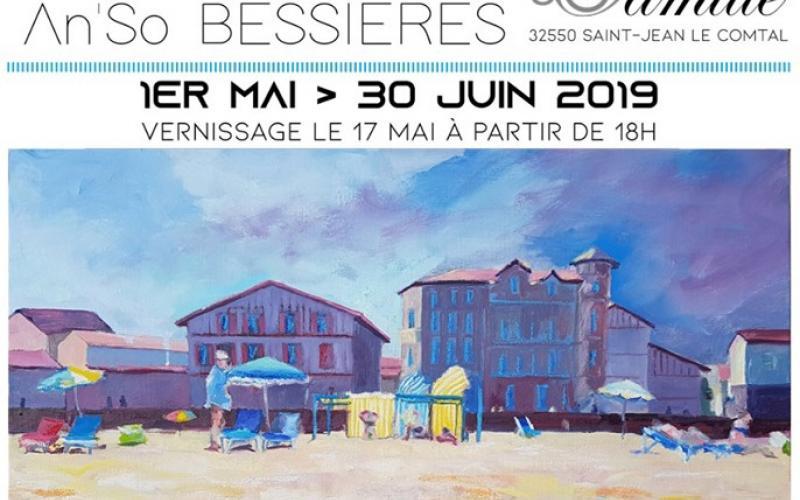 EXPOSITION D'AN'SO BESSIERES AU CHATEAU DE CAMILLE