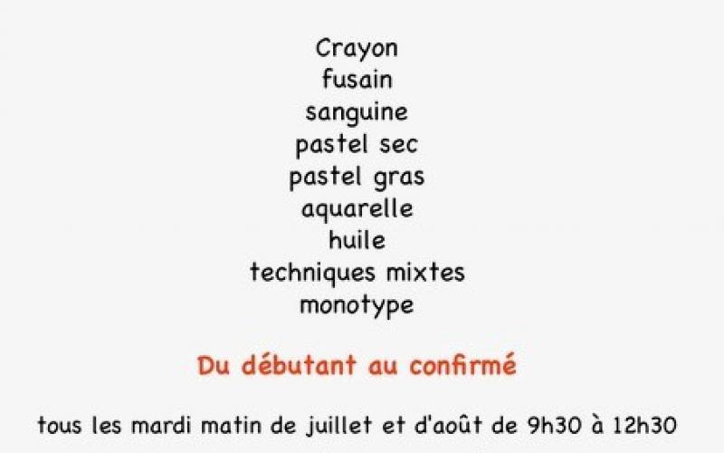 STAGES D'ÉTÉ DESSIN/PEINTURE